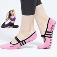 Wholesale Ladies Ballet Socks - Pink Women Anti Slip Cotton Yoga Socks Ladies Sport Pilates Socks Ballet Socks Dance Sock