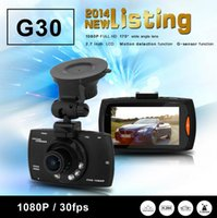 Wholesale DHL fast delivery G30 quot Car Dvr Degree Wide Angle Full HD P Car Camera Recorder Motion Detection Night Vision G Sensor