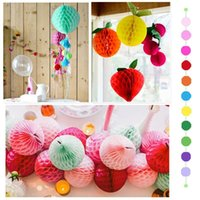 """Wholesale Decorations For Baby Shower Party - 6""""8""""10"""" Tissue Paper Honeycomb Balls For Party Wedding Decoration Event Party Supplies Baby Shower Party Decorations"""