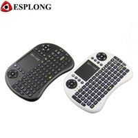 andriod pads wholesale achat en gros de-Vente en gros - Portable Mini i8 Wireless Keyboard Handheld Air Mouse 2.4GHz Smart Remote Control avec Touchpad pour Andriod TV Box PC Pad Laptop