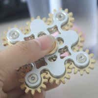 Wholesale Eva Machine - 2017 EDC handspinner Gadget 9 GEAR Hand spinner fidget toy Steampunk fidget machine with 9 wheels Top Finger Gyro Decompression Anxiety Toy