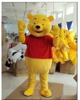 Wholesale Child Size Mascot - High quality Real Pictures Deluxe Winnie the Pooh POOH BEAR Mascot costume Adult SIZE,Halloween Party Children Fancy dress ,factory direct