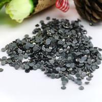 Wholesale Diamonds Hotfix - 1440PCS Crystal Austrian HOTFIX Rhinestone Flat Backs Rhinestones SS6,SS8,SS10,SS16,SS20 For DIY Garment (Black Diamond)