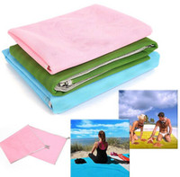 Wholesale Green Picnic - Sand Free Magic Beach Mat Portable Grenadine PVC Camping Mats Outdoor Picnic Camping Mattress Summer Sandy Beach Pads 200*150CM