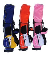 Wholesale Cheap Irons Sets - Tigeroar Junior Kids Children golf clubs half set with bag Right Handed Graphite shafted Blue Pink Orange Cheap High Quality Golf Clubs