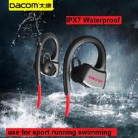Wholesale Iphone Waterproof Version - DACOM P10 IPX7 Waterproof Bluetooth headphone Headset Swimming Earphone Ear Hook running general version for ios 7 and android