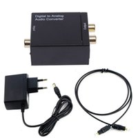 300set Digital zum analogen Audiokonverter-Adapter Digitales Adaptador optisches koaxiales RCA Toslink Signal zum analogen Audiokonverter