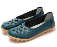 5be83c70d8e Nueva moda para mujer zapatos femeninos pisos sandalias de goma Pigskin  primavera punta redonda Split cuero resbalón zapatos casuales