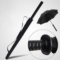 Wholesale Wholesale Sword Umbrellas - Creative 16K Black Pongee Rain Umbrella Katana Design Long Handle Umbrella Japan Samurai Swords Style Umbrella ZA3206