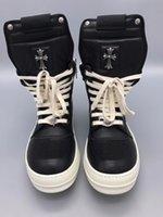 Wholesale Wholesale Men Cowboy Boots - 2018 New list Men Boots Arrival Shoes Basic High-TOP Ankle Genuine Leather Luxury Trainers Silver Owen Snow Boots Casual Zip Flats Shoes