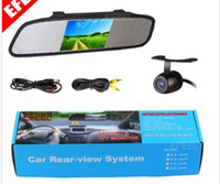 "Wholesale Rearview Cameras - New 4.3"" Screen TFT Car LCD Rear View Rearview DVD Mirror Monitor+Backup Camera"
