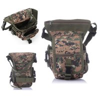 ingrosso sacchetti di vita militare-2017 Molle Impermeabile Camo Nylon Oxford Waistpack Tactical Motorcycle Leg Bag Satchel Marsupio Outdoor Military Assault Bag Pack