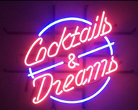Wholesale cocktail dreams neon sign for sale - Group buy Fashion Handcraft COCKTAILS AND DREAMS Real Glass Beer Bar Display neon sign x15 Best Offer