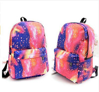 Vente en gros - Unisex Galaxy Space Backpack sac à dos de voyage Canvas Book Storage School Bag