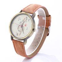 Wholesale Antique Canvas - New music symbol pattern watches women leather watch Retro canvas casual cowboy dress quartz wrist watches for women students ladies