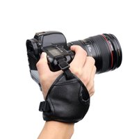 Wholesale Slr Hand Grip - New Black PU Leather SLR DSLR Camera Leather Soft Wrist Hand Strap Grip Belt for Canon for Nikon for Sony