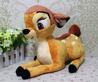 Wholesale Bambi Toys - Wholesale- Free shipping 1pcs 35cm 13.8inch Lovely cartoon little deer bambi plush stuffed toy birthday gift for children boy's girls