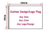 logotipos de clubes de futebol venda por atacado-Frshpping time De Futebol / clube personalizado fazer bandeira Digital Print 100D poliéster pongee designer gráfico clube crista todo o tamanho todo o logotipo