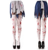 Wholesale blood party - Cosplay Costume Fashion Blood Long Stocks Halloween Party Accessories
