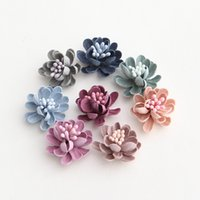 Wholesale cm Colorful Fabric Flowers Stamen Core Decoration Handmade Florals Buds Shape Headwear DIY Jewelry Accessories