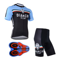Wholesale New Bianchi Jersey - 2017 Felt New man's cycling jersey (bib)shorts sets Ropa Ciclismo BIANCHI team 9D Gel Padded Breathable Quick-Dry Bicycle Sportwea A119