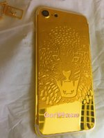 Wholesale Iphone Golden Cover - Gold Back Housing For Iphone7 24kt 24ct Golden Back Cover Back Housing Replacement To For Iphone7 with matt gold lion, be be customized