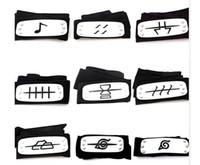 Wholesale Naruto Belts - PrettyBaby ANIME Naruto Headband head belt Leaf Village Konoha Kakashi Akatsuki Members Cosplay Costume Accessories blue red black
