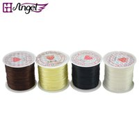 Wholesale Stretch Elastic Roll - GH Angel High quality 80m roll jewelry DIY accessories nylon stretch cord components, strong&stretchy elastic thread for bracelet connectors
