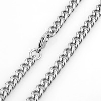 "Wholesale Hot New Mens Chain Necklace - 18-36"" Length For Choice 7mm Width Hot sale New Women Mens Link 316L Stainless Steel Jewelry Wholesale"