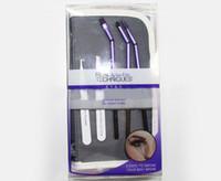 Wholesale Eyebrow Tweezer Kit - 5 Pieces Makeup Brush Set Professional Eye Shadow Eyebrow Tweezer Makeup Tools Free Shipping
