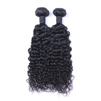 Wholesale dye curly brazilian hair resale online - Brazilian Virgin Human Hair Jerry Curly Unprocessed Remy Hair Weaves Double Wefts g Bundle bundle Can be Dyed Bleached
