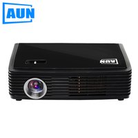 Wholesale Engineering Bag - Wholesale-AUN Projector 4500 Lumens 1280*800 Set in WIFI Bluetooth Android Projector Support DLAN Airplay Free 3D Glasses, Bag, Air Mouse