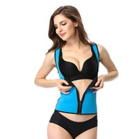Wholesale Neoprene Slimming Shorts - 2017Hot Sale Women Zipper Sweating Slimming Vest Body Shaper Short Sleeve Top Weight loss Hot Shapers Neoprene T Shirt sexy underwear