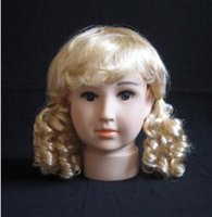 Wholesale Cheap Real Dolls - Professional cheap hairdressing mannequins kids model head mannequin with real doll wig boys and girls PE YZX 013