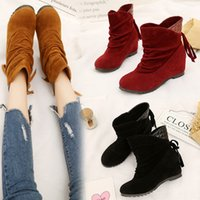 Wholesale Hand Painting Wool Fabric - Women's Winter Shoes Big Size High Quality Brand Women Shoes Plush and Wool Warmful Women Winter Boots Mid Calf Boots 989