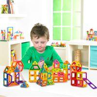 Wholesale Toy Magnets Building - Plastic New 112Pcs set Magnetic Building Blocks Models & Building Toy Magnet Plastic Technic Bricks Learning & Educational Toys For Children