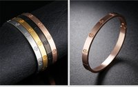Wholesale Body Jewelery - Valentines day gift promotion 316L stainless steel lover's bangels girl's present hand bracelet body jewelery with cross design for love