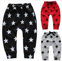 Wholesale Kid Stars Print Harem Trouser - Spring Autumn fashion Boys Harem Pants Children Kids Star Print Loose Leisure Trousers 2-7T SKK-081
