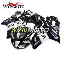 negro blanco 636 al por mayor-Carenados para Kawasaki ZX-6R 636 2007 2008 Inyección Cubiertas de cubierta de plástico ABS Moto ZX6R Cubierta Nuevos kits de carrocería West White Black Cowlings