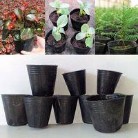 Wholesale Large Chinese Flower Pot - 300 pcs 10x10cm Nursery Pots Seedling-raising Pan Feeding Block Nutrition Pan Garden Supplies Free shipping Multi Size