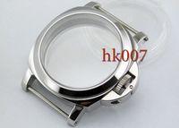 Wholesale Metal Case Watches - P9 Neiton PAM 44mm Stainless Steel Wristwatch Case Glass Kit ETA6497 6498 St36 Series Movement Watch Case