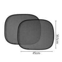 Wholesale Window Sunshade Mesh - 2pcs Black Side Car Window Sunshades Cover Mesh Visor Shield Screen Interior UV protection