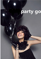 Wholesale Latex G - Black Balloons 12 Inch Thick 3.2 g Birthday Ballons Decorations Wedding Ballons black Globos Party Wholesale