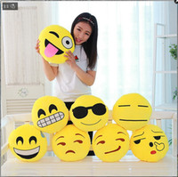 Wholesale funniest videos - QQ emoji plush pendant Hold pillow QQ emoji plush pendant Activity small gift funny hold pillow