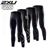 Wholesale Clothing Stops - 2XU men women Running Compression Tights Pants Women Elastic Clothes Tight-fitting Sports Trousers Marathon Fitness Jogging Pants