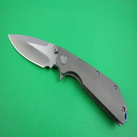 Wholesale mi tools - Recemend MI D2 TC4 Wild boar made Bearing washer folding knife titanium alloy handle tactical knive tools freeshipping