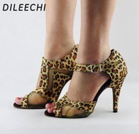 Wholesale Top Quality Latin Dance Shoes - TOP Sneakers DILEECHI Brand Quality Latin dance shoes Women's Ballroom dancing shoes Ultra high heel 10cm Party Salsa Square dance shoes