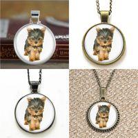 Wholesale Dog Pendant Earring - 10pcs Yorkie Yorkshire Terrier cute dog Necklace keyring bookmark cufflink earring bracelet