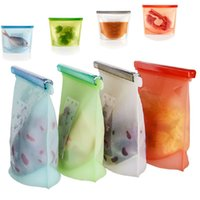 Wholesale Hot Silicone Fresh Bags Home Food Sealing Storage Bag Food Sealed Bags Organization Kitchen Gadgets IB161