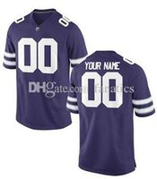 Wholesale Kansas Rugby - Men's Women Youth Kids Kansas State Wildcats Personalized Customized College Football jerseys Purple Top Quality Drop Shipping Wholesale
